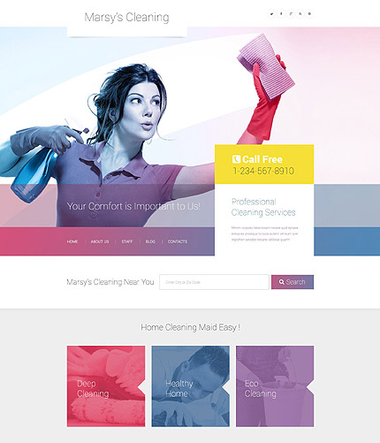 wordpress cleaning template