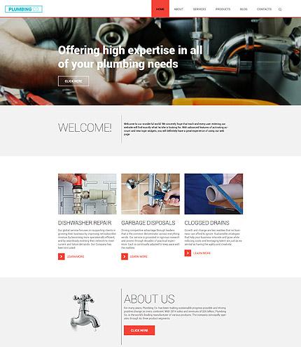 plumbing service template