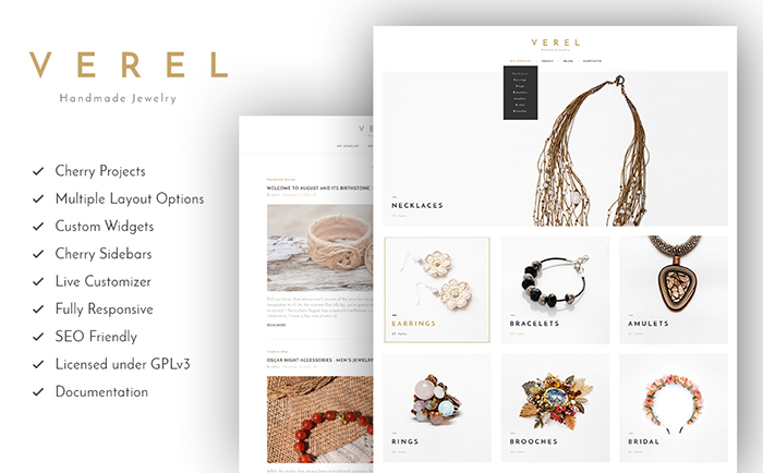 Handmade Jewelry WordPress Theme