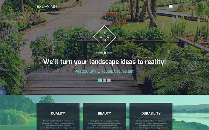 Exterior Design WP Template