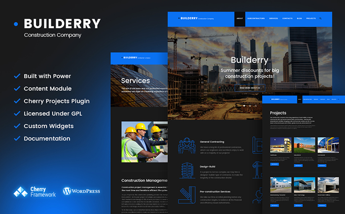 Construction WordPress Theme