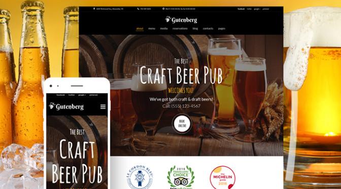 GutenBerg - Beer Pub and Brewery WordPress Theme