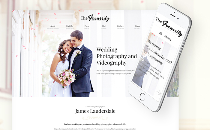 Wedding Photographer WordPress Theme