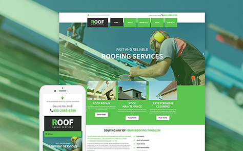Roof Repair WordPress Theme