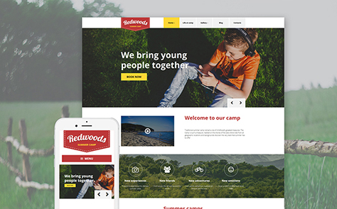 Summer Camp WordPress Template