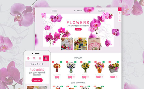 Flowers PrestaShop Theme