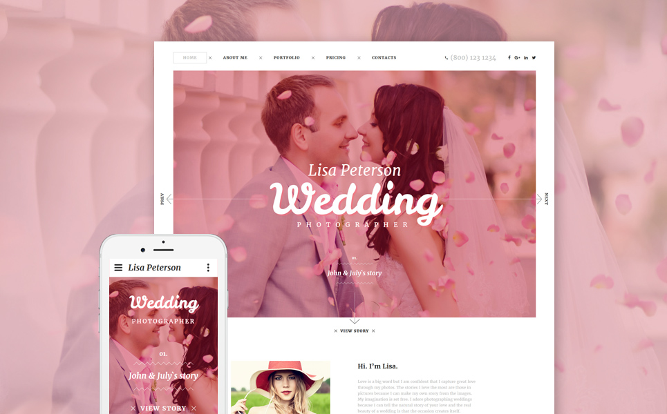 Photographers Web Template