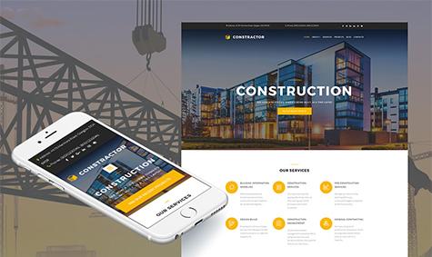 Construction Company Responsive Moto CMS 3 Template