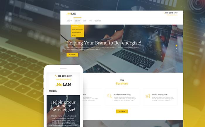Advertising Agency Responsive WordPress Theme WordPress Theme