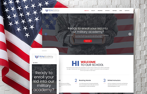 Military School WordPress Theme