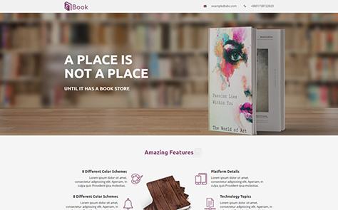 E-book Unbounce Template