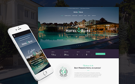 Resort Hotel Responsive WordPress Theme