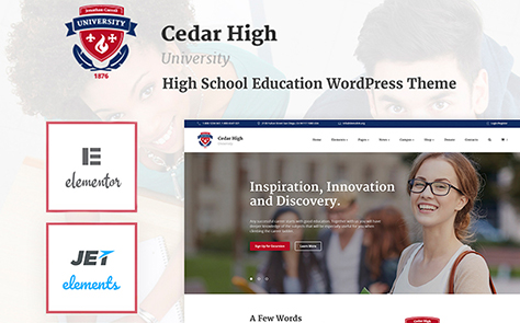 Cedar High - University WordPress Theme