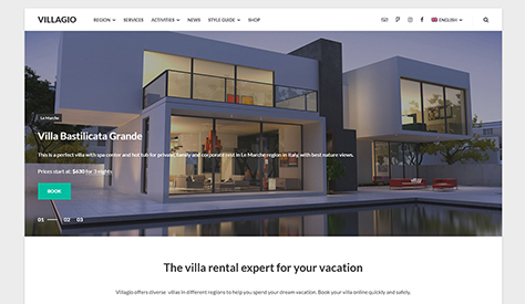 Villagio - Property Booking WordPress Theme