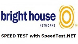 brighthouse speed test using speedtest.net