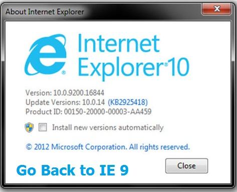 remove internet explorer 10