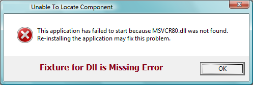 msvcr80 dll is missing problem