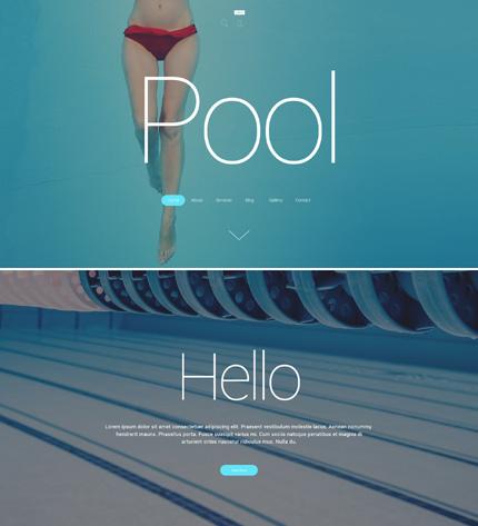 wordpress cleaning pool service theme
