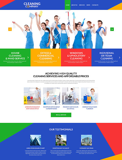 cleaning service themes for free