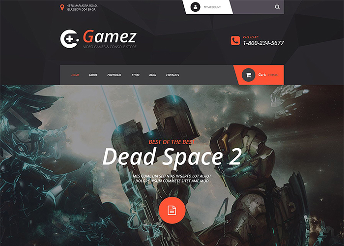 Gamez VirtueMart Template