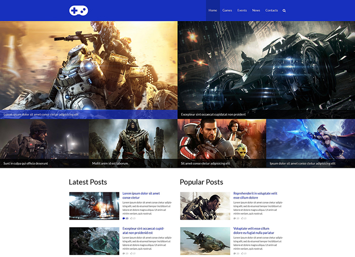 game wordpress themes