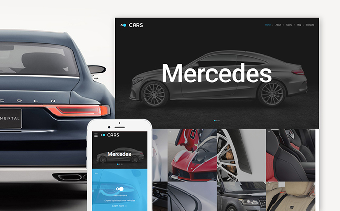 Car Responsive Website Template
