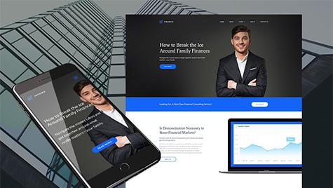 Income - Financial, Banking & Loan Company Moto CMS 3 Template