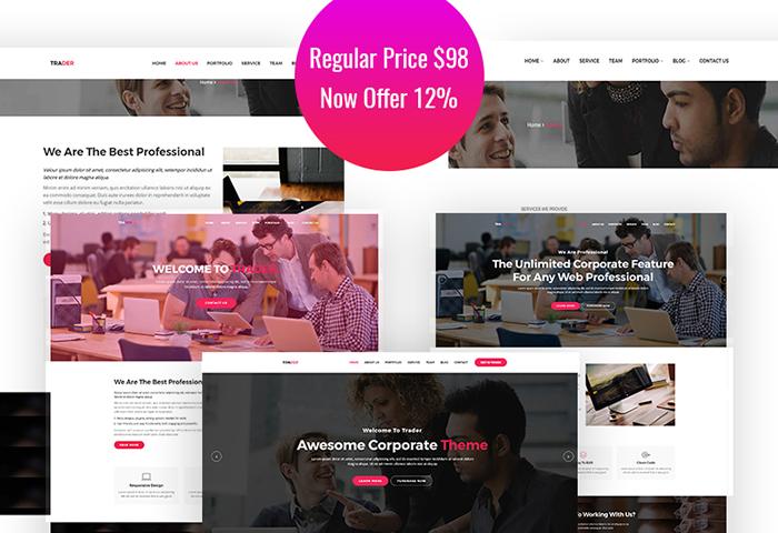 Trader - Responsive  Creative WordPress Theme