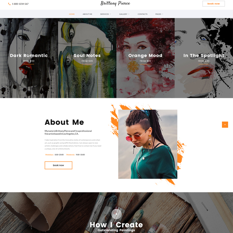 Artist Portfolio Multipage HTML5 Template