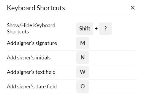 keyboard shotcut