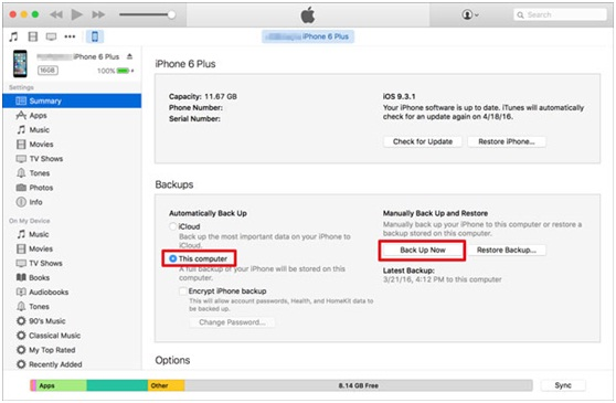 iphone backup with itunes